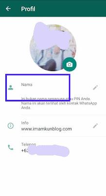 Cara Membuat Profil WhatsApp Tanpa Nama