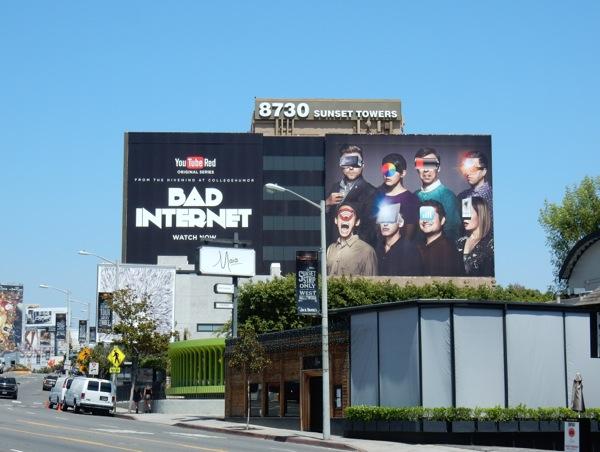 Giant Bad Internet YouTube Red billboard