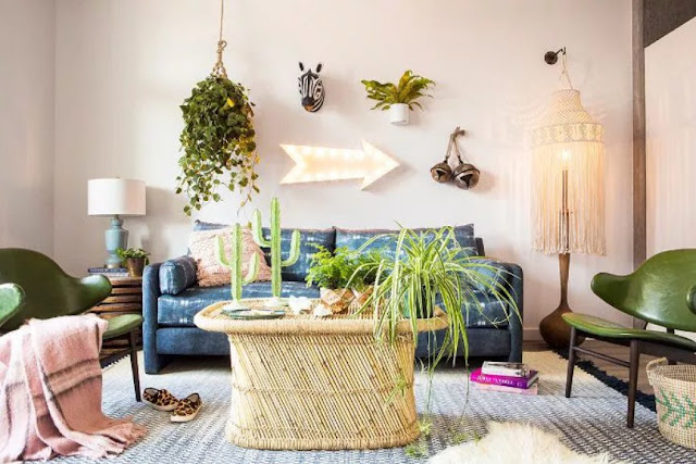 new concept bohemian living room with new embrace new trend