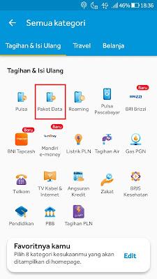 menu paket data