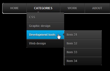 Animated CSS3 Drop Down Menu