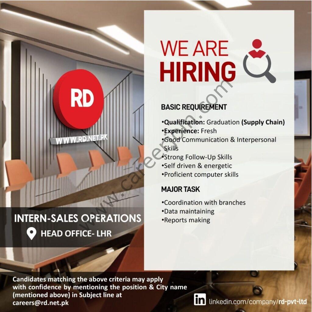 careers@rd.net.pk - Ruba Digital Pvt Ltd RD Internship 2021 in Pakistan