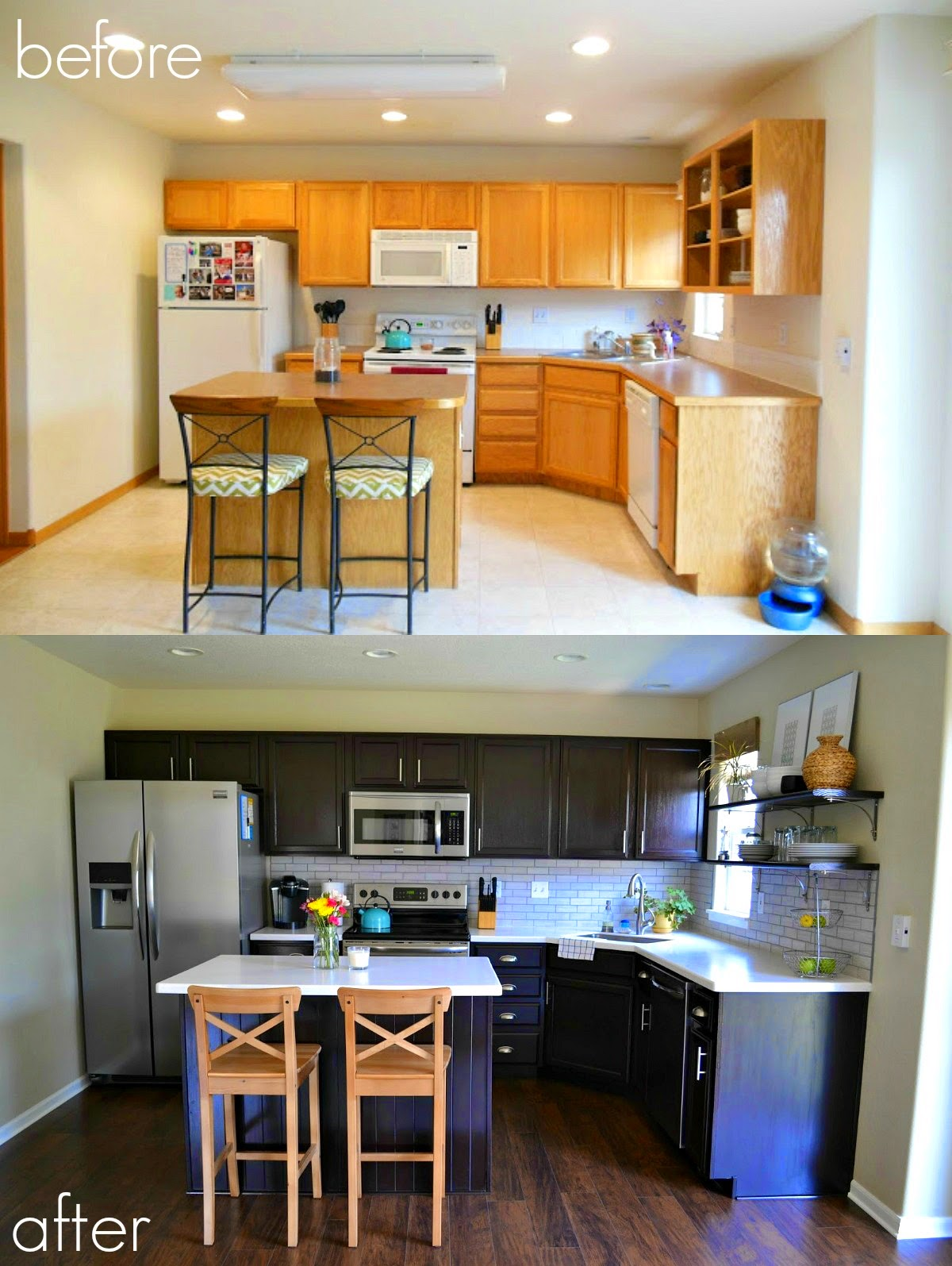 staining kitchen cabinets before and after cabinet refinishing 101 paint vs stain vs rust 9380