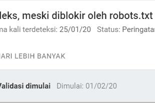 Cara Memperbaiki Diindeks Meski Diblokir robot.txt Pada Google Search Console
