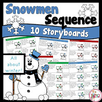 Snowmen Storyboards for Sequencing