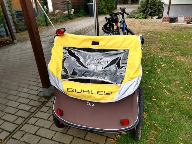 Burley Cub von hinten