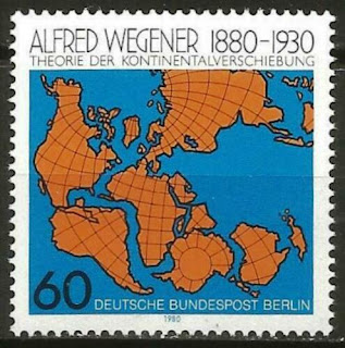 Germany Berlin 1980 Alfred Wegener Map Theory of Continental Drift