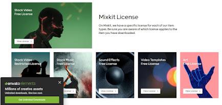 Mixkit License Screen