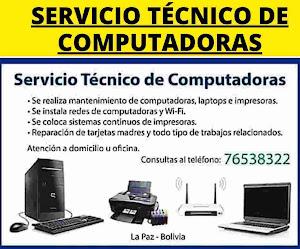 SERVICIO TÉCNICO DE COMPUTADORAS (LA PAZ)