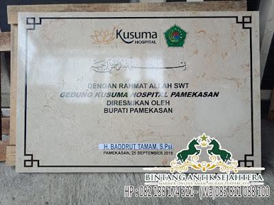 Harga Prasasti Marmer 2019, Harga Prasasti Peresmian Jakarta, Prasasti Masjid