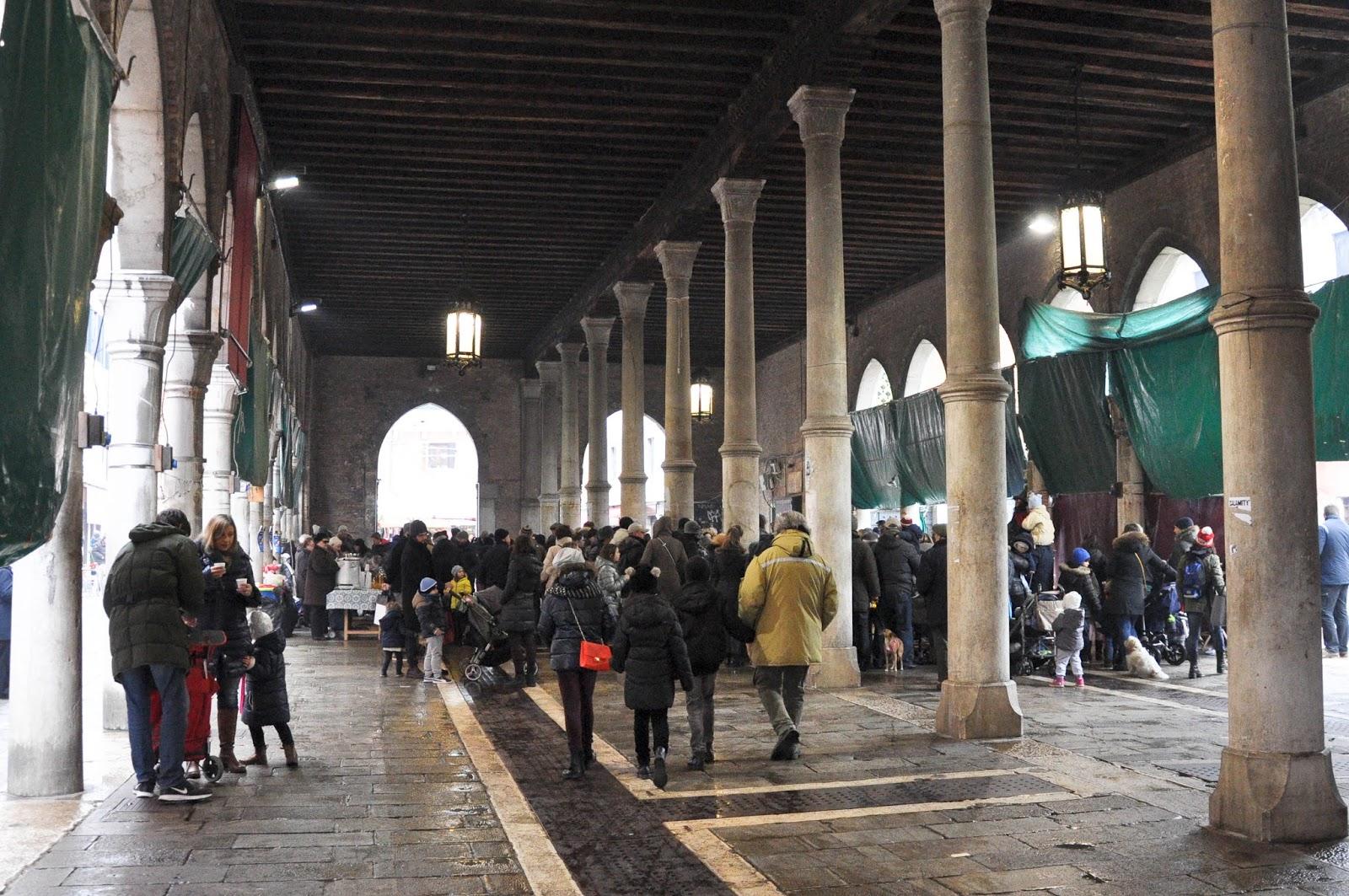 Befana celebration, The fish market, Venice, Italy