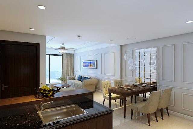 Phòng khách chung cư Luxury Apartment Đà Nẵng