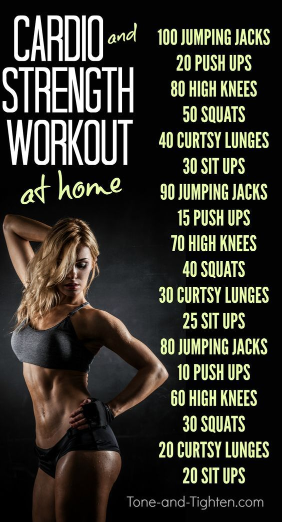 The Best Cardio Strength Workout at home