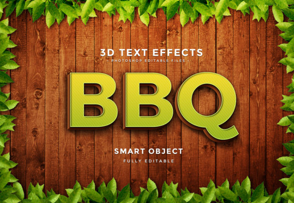 3D Text Effect Photoshop file