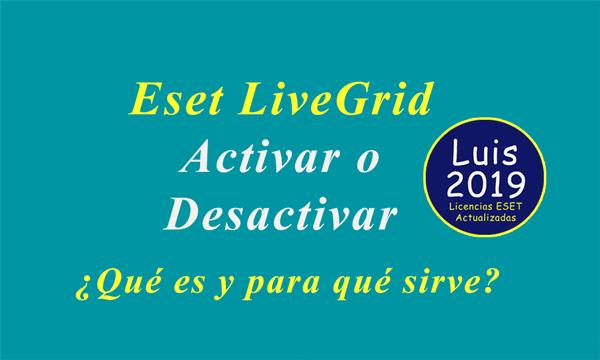 Desactivar Eset LiveGrid