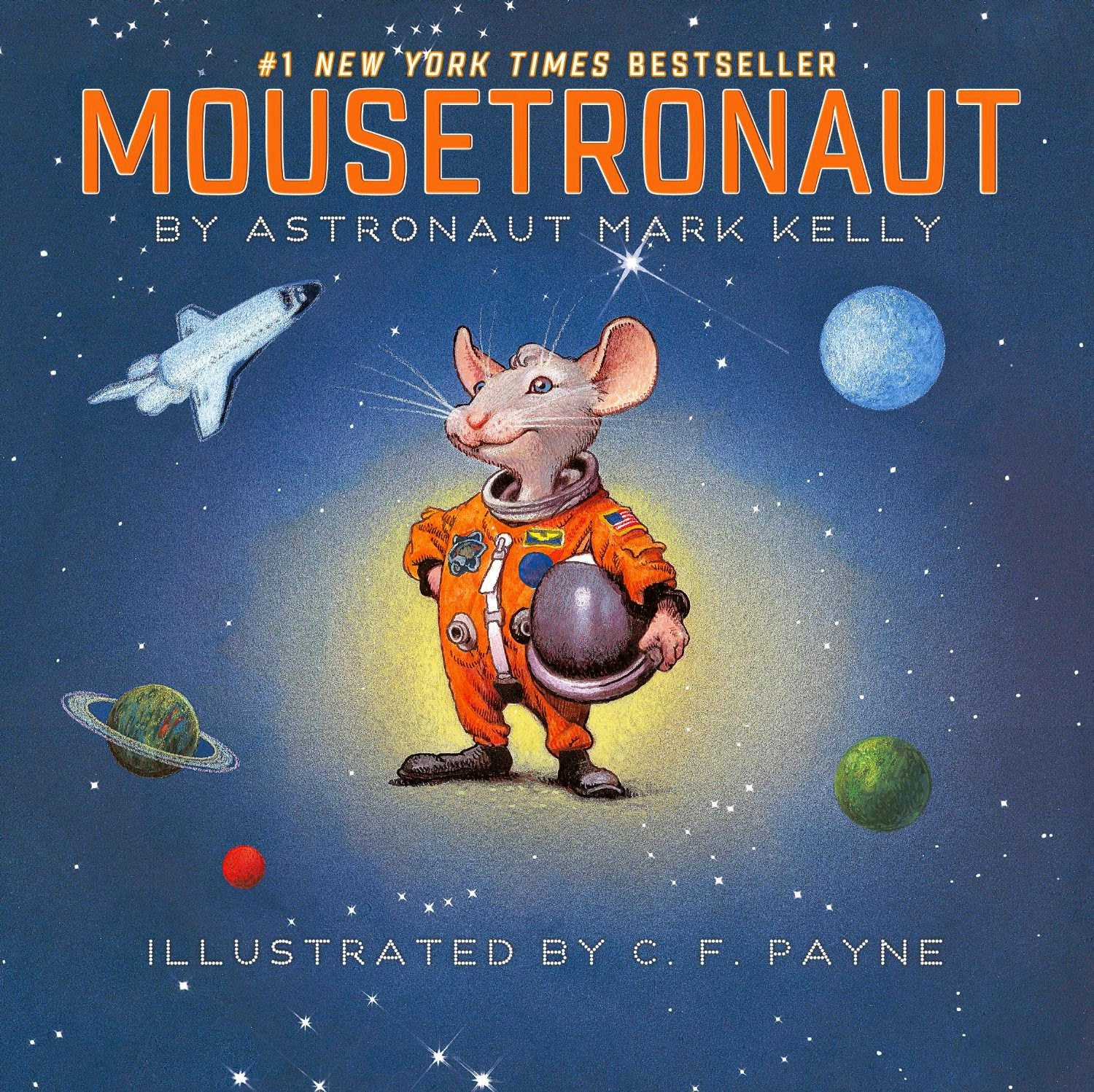 Mousetronaut, part of children's book review list about outer space