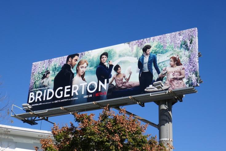 Bridgerton series premiere billboard