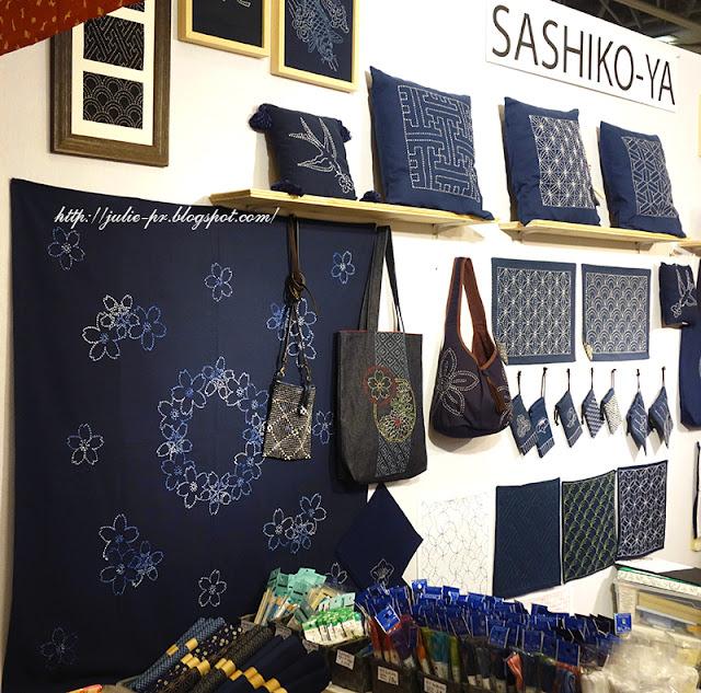 Париж, рукодельный салон Creations & savoir-faire-2015, porte de versailles, вышивка сашико