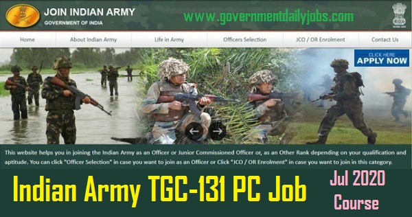 Indian Army Engineering Job-TGC 131 Course commencing Jul 2020