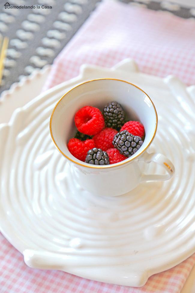 Berries inside sauce cup