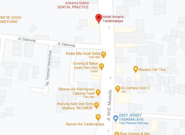 Map Letak Hotel Amaris Tasikmalaya