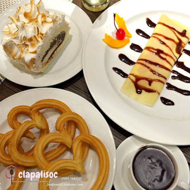 Dulcinea Churros con Chocolate Mango Crepe Malacanang Roll