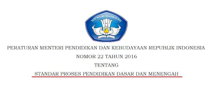 Permendikbud Nomor 22 Tahun 2016 Tentang Standar Proses Pendidikan Dasar dan Menengah
