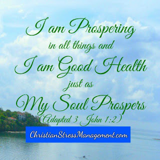 I am prospering in all things and I am in good health just as my soul prospers. (Adapted 3 John 1:2)