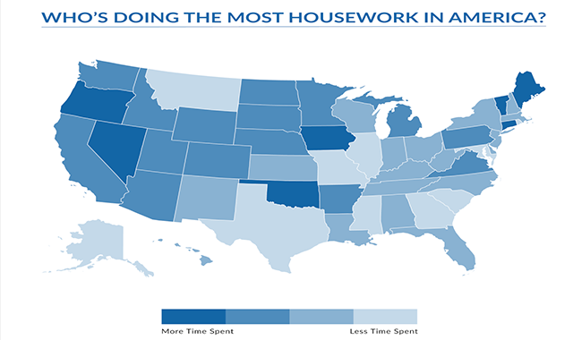 Who's Doing the Most Housework in America? #infographic
