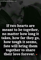 Meme about two hearts meant to be together they will find each other.