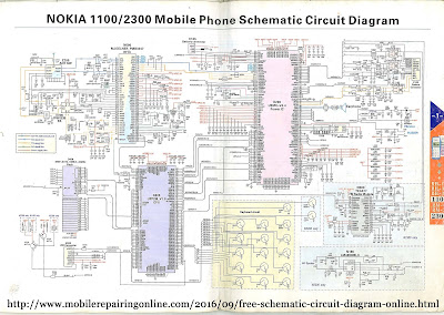 Nokia 1100/2300 mobile phone schematic circuit diagram