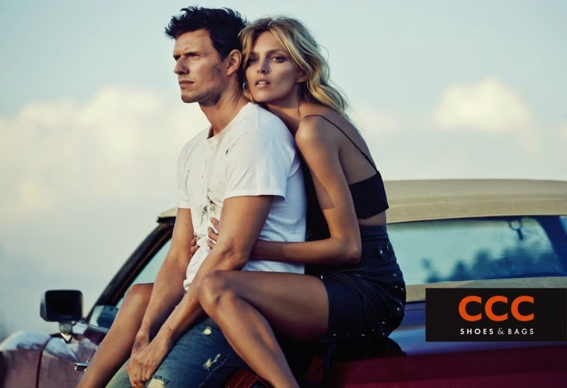 CCC Shoes and Bags Spring Summer 2015 Campaign featuring Anja Rubik d04ecc4895674