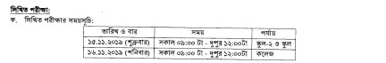 16th ntrca written exam date