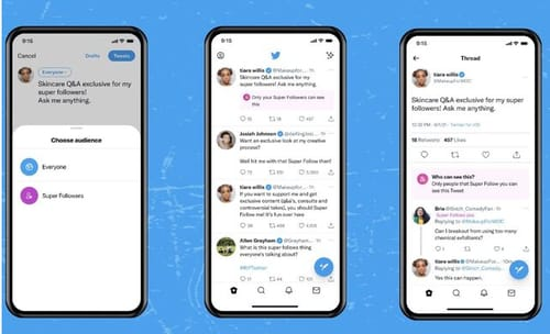 Twitter launches Super Follows feature on iOS