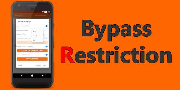 Anonytun Pro APK Bypass any type of Restriction