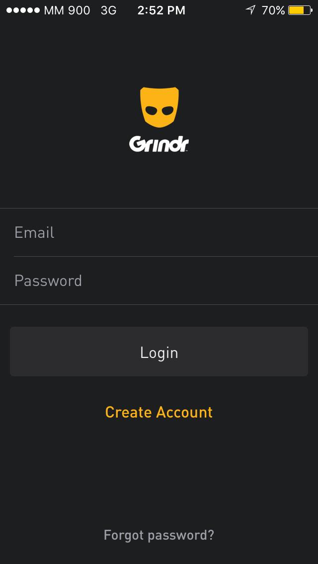 grindr login for pc