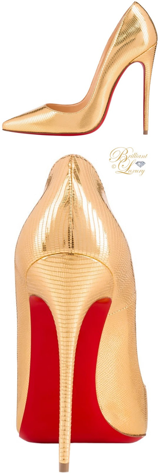 Brilliant Luxury ♦ Christian Louboutin So Kate Laminato Dino pumps
