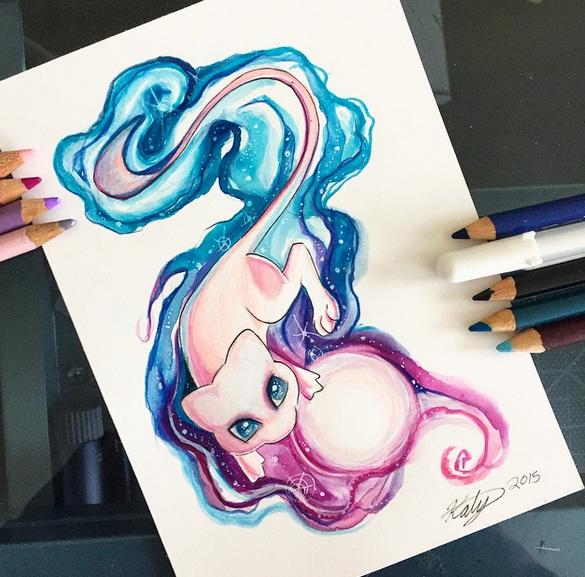 gambar keren kreatif dan menarik dengan menggunakan pensil warna-21