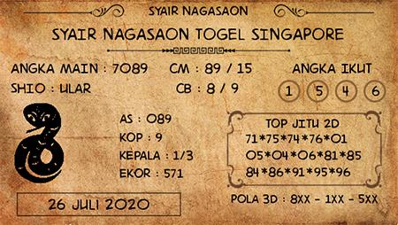 Nagasaon SGP Minggu 26 Juli 2020
