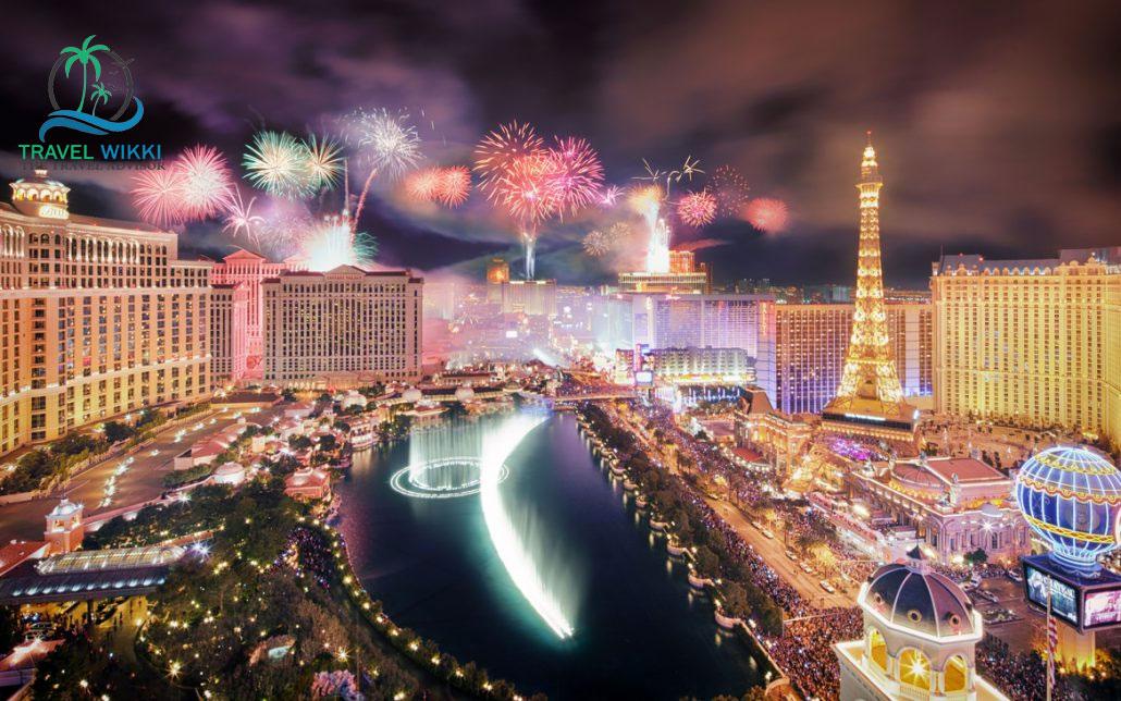 Las Vegas at new year