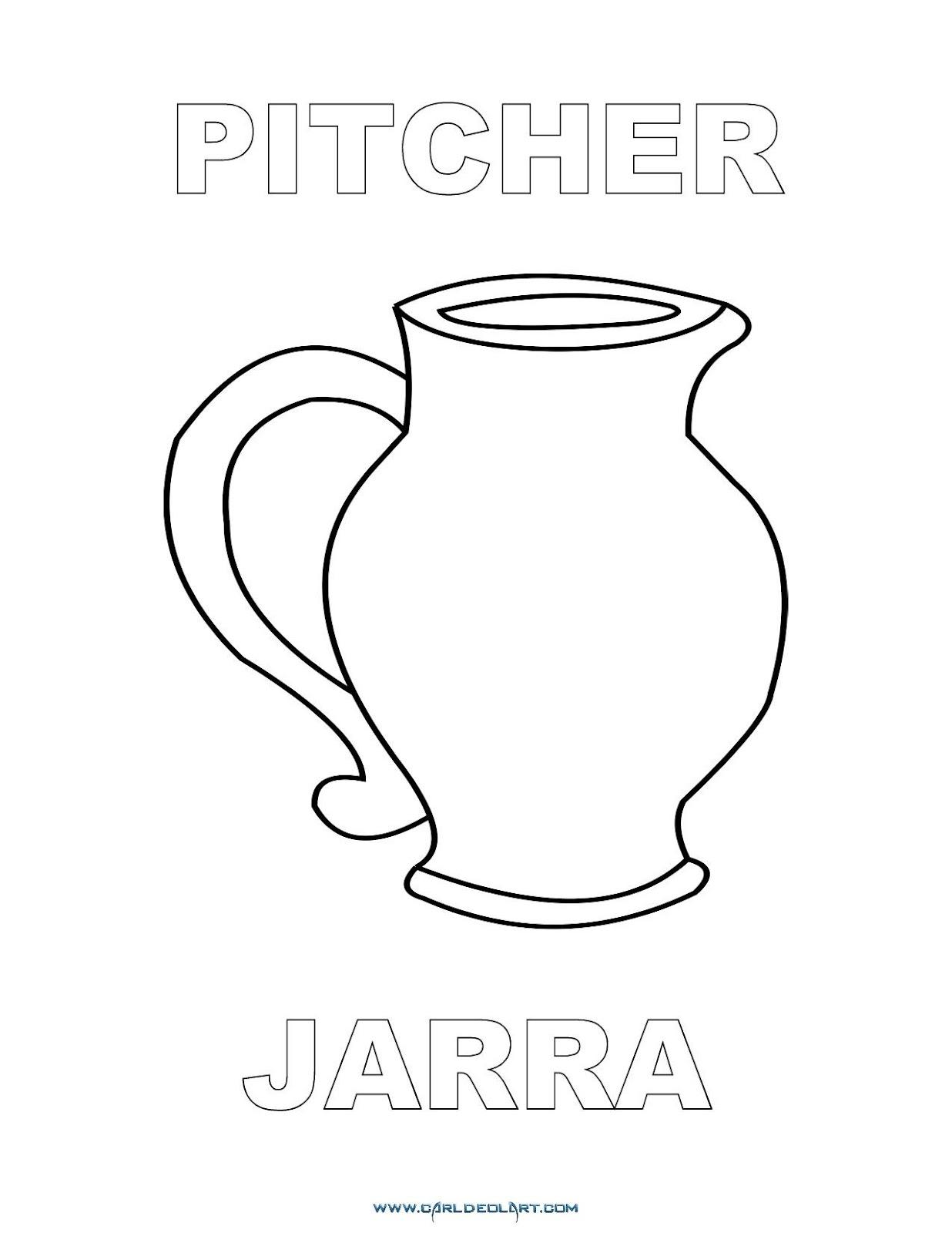 Dibujos Inglés Español Con J Jarra Pitcher