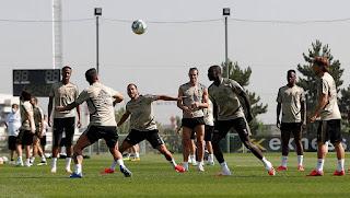 El trabajo fisico y con balón marcaron la pauta en el entrenamiento de hoy