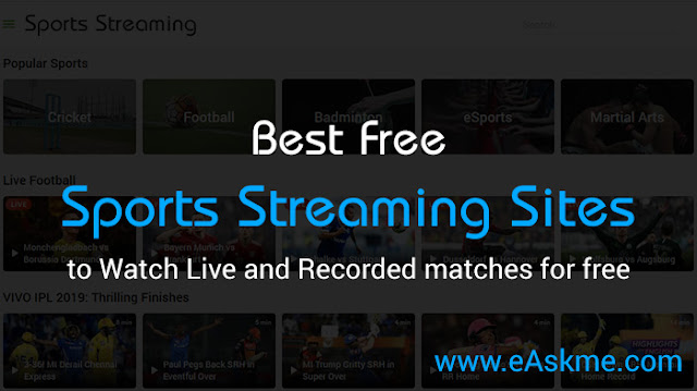 Top 10 Best Free Sports Streaming Sites: eAskme