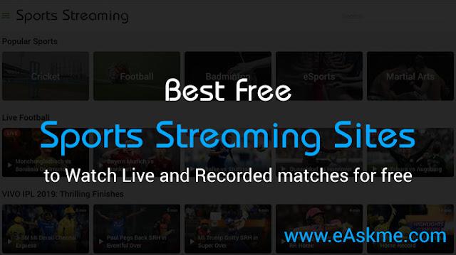 Top 10 Best Free Sports Streaming Sites: eAskme