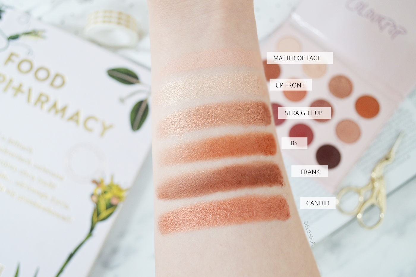 give it to me straight colourpop swatche