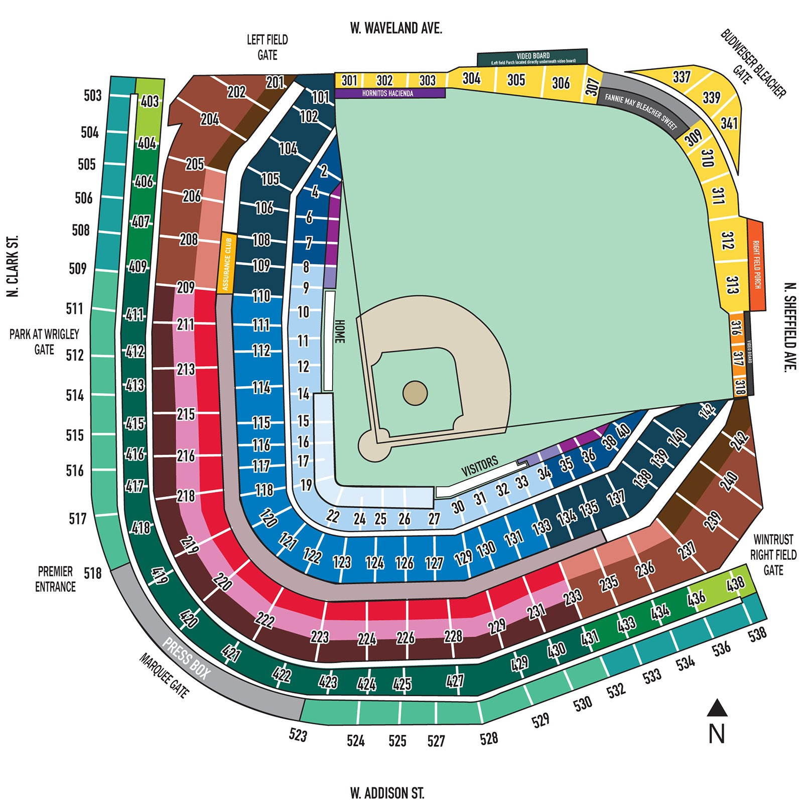 Fresh Wrigley Field Seating Chart With Seat Numbers Seating Chart