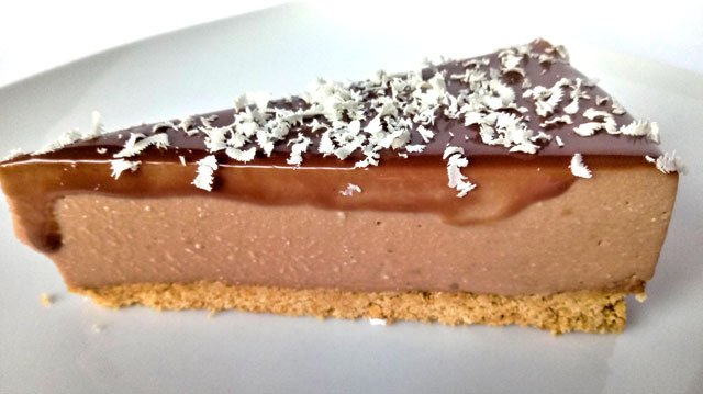 tarta de queso con chocolate receta facil