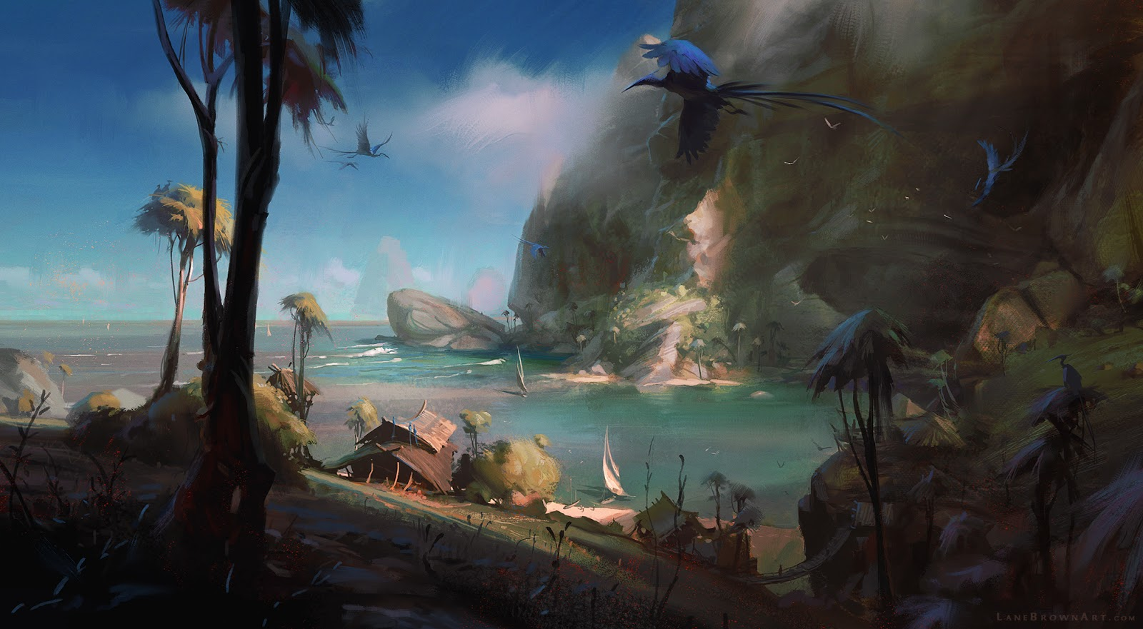 Illustrations and Concept Art By Lane Brown