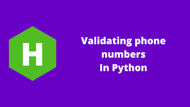 HackerRank Validating phone numbers in python problem solution