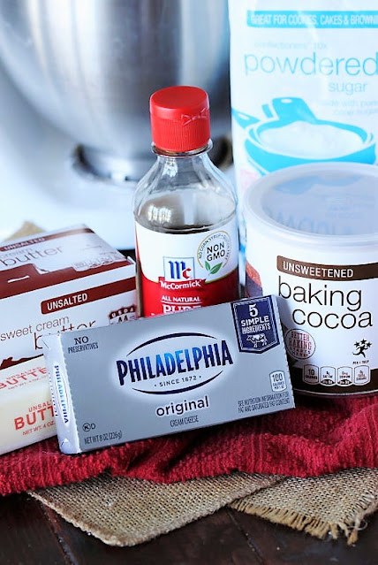 Chocolate Cream Cheese Frosting Ingredients Image